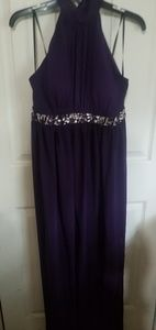 Purple evening gown